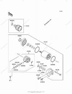 Kawasaki Jet Ski 1998 Oem Parts Diagram For Starter Motor