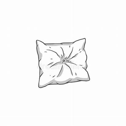 Pillow Cartoon Drawing Sketch Cushion Drawn Square