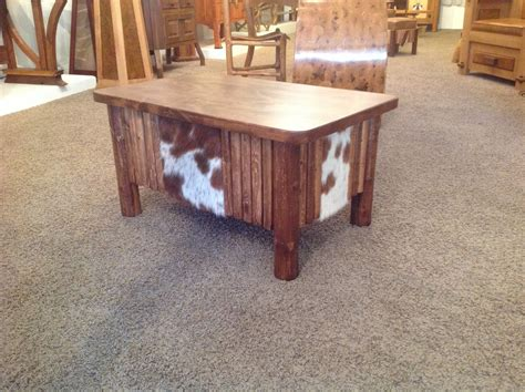 hair on cowhide coffee table it would look great in any