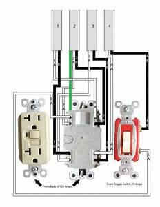 One 20 Amp Gfci  One 20 Amp Toggle Switch  To Four 14  2