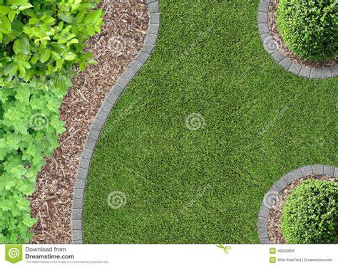 Im Rasen Kreisförmig by Rasen Barkenkompost Und Anlagen Stockfoto Bild Plan