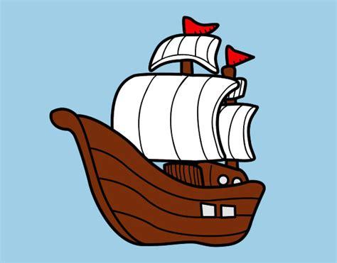 Barco De Vela Antiguo Dibujo by Dibujos De Veleros Para Colorear Dibujos Net