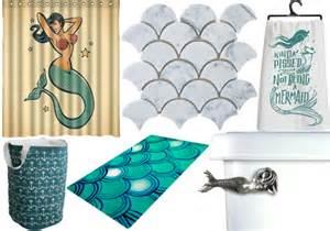 mermaid decor isn t just for the of the sea bathroom offbeat home