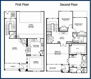 Best of 2 story modern house floor plans new home plans for Pictures of floor plans to houses