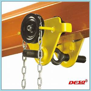 China Manual Lifting Geared Trolley For Chain Block
