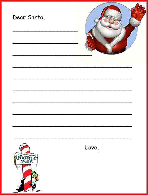 Free Santa Letter Template by Santa Letter Santa Letter Template Free Premium Templates
