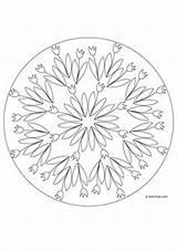 Mandala Coloring Printemps Mandalas Flower Lapins Spring Burning Wood Quoteko Credit Larger Zesty Lifestyle sketch template