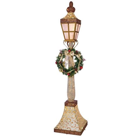 ft   led indoor outdoor glitter gold lamp post
