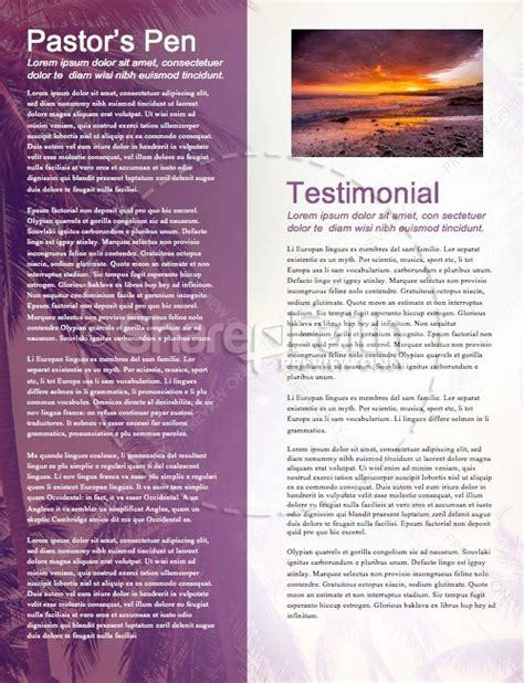 summer baptism ministry newsletter template newsletter