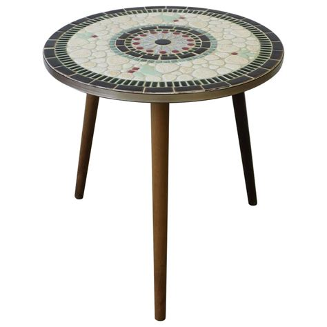 mid centuy modern tile mosaic side table at 1stdibs