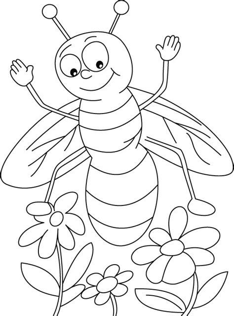 gambar mewarnai lebah untuk anak paud dan tk