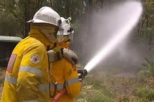 Fire Hose Spraying Water