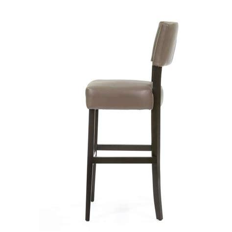 tabouret de bar en bois et vinyle barsteffi 4 pieds tables chaises et tabourets