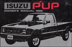 1986 Isuzu P U0026 39 Up Repair Shop Manual Original