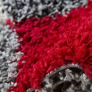 Teppich Bettumrandung 3 Teilig : shaggy l ufer bettumrandung hochflor teppich vigo in rot grau schwarz 3er set hochflor teppich ~ Bigdaddyawards.com Haus und Dekorationen
