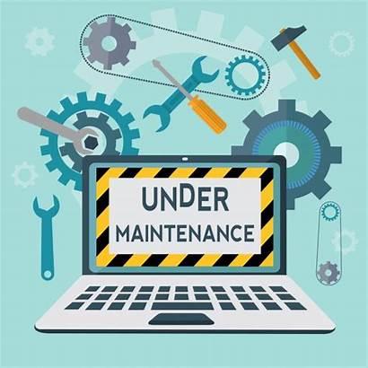 Maintenance Under Vector Background Freepik