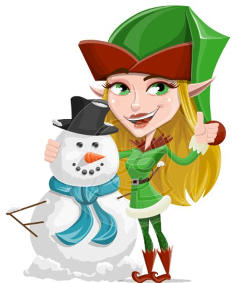 female christmas characters vector characters ultimate packs by graphicmama graphicmama