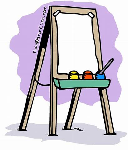 Clipart Easel Artist Animated Clip Transparent Outer