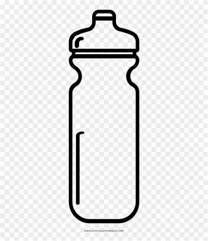 Bottle Water Clipart Outline Coloring Drawing Gatorade