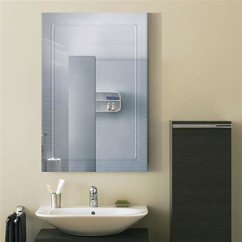 24 Bathroom Mirror by 36 X 24 In Wall Mounted Rectangle Bathroom Mirror Dk Od