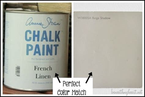 the latex paint color match to sloan s linen chalk paint beneath my heart