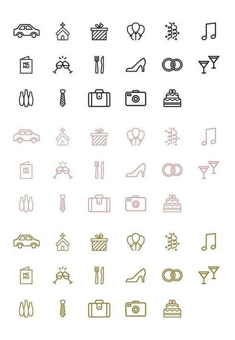timeline hochzeit icons symbole und vorlage zum