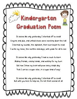 kindergarten graduation poem nursery rhymes diploma by 526 | original 1226667 2