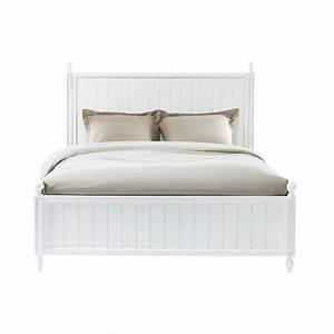 Lit 180x200 Blanc : lit 140 x 190 cm en bois blanc newport maisons du monde ~ Teatrodelosmanantiales.com Idées de Décoration