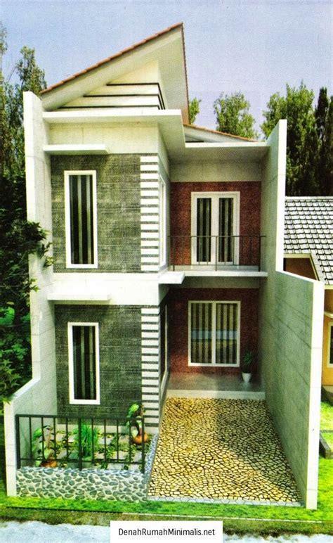 desain rumah minimalis  lantai  lahan sempit gambar