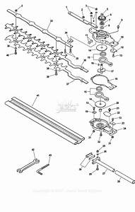 Echo 99944200590 Articulating Hedge Trimmer Attachment Parts Diagram For Gear Case  Blades