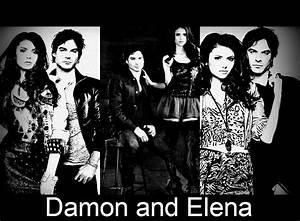 ^Damon and Elena^ - Damon & Elena Fan Art (26453869) - Fanpop