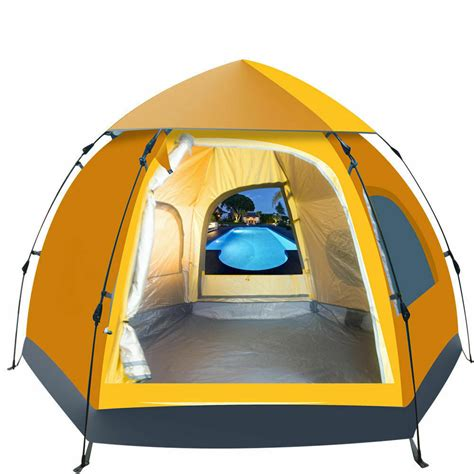 people waterproof automatic outdoor instant pop  tent camping hiking tent ebay