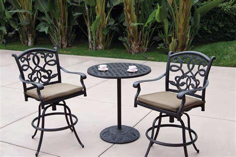 patio furniture bistro set cast aluminum 30 quot
