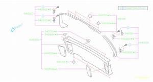 2002 Subaru Forester Clip  No 3  Trim  Rear  Interior