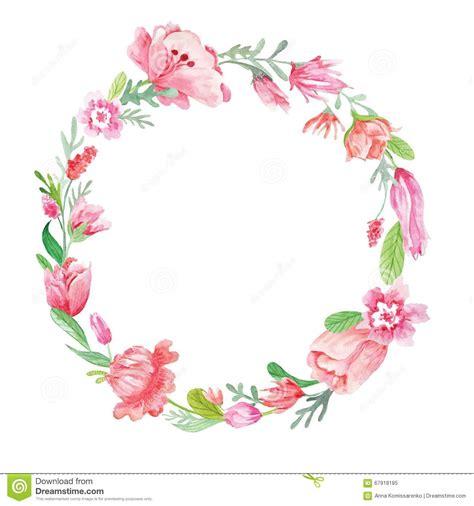 watercolor floral wreath stock illustration illustration of frame 67918185