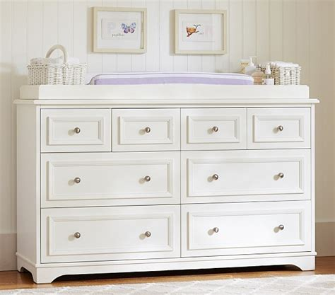 pottery barn changing table fillmore wide dresser changing table topper