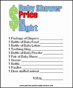 baby shower price is right printable eden escape With free printable price is right baby shower game template