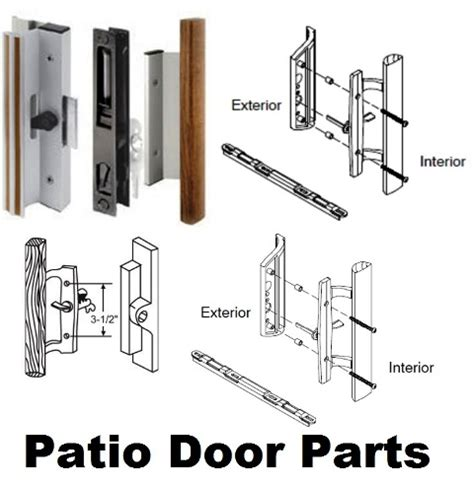 sliding patio door parts  handles  replacement