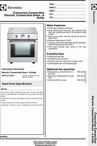Electrolux Oven Fce043l Users Manual