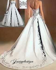 Schwarz Weiß Hochzeitskleid : zweifarbig brautkleid hochzeitskleid schwarz stickerei wei satin a linie xxl ebay ~ Frokenaadalensverden.com Haus und Dekorationen