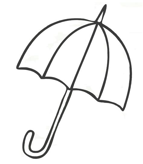umbrella coloring pages  childrens printable