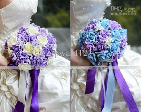 Purple Wedding Meme - light blue and purple wedding flowers