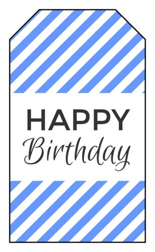 happy birthday gift tag labels label templates