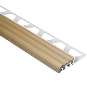 schluter trep s aluminum with light beige insert 5 16 in