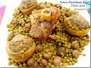 Artichaut Recette Simple : stuffed artichoke hearts and peas into stew tajin marocaine ~ Farleysfitness.com Idées de Décoration