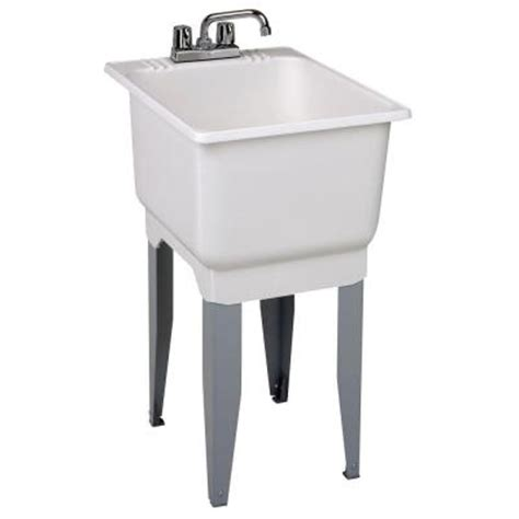 Home Depot Utility Sink Kit by Mustee 18 In X 23 5 In Plastic Laundry Tub 12c The