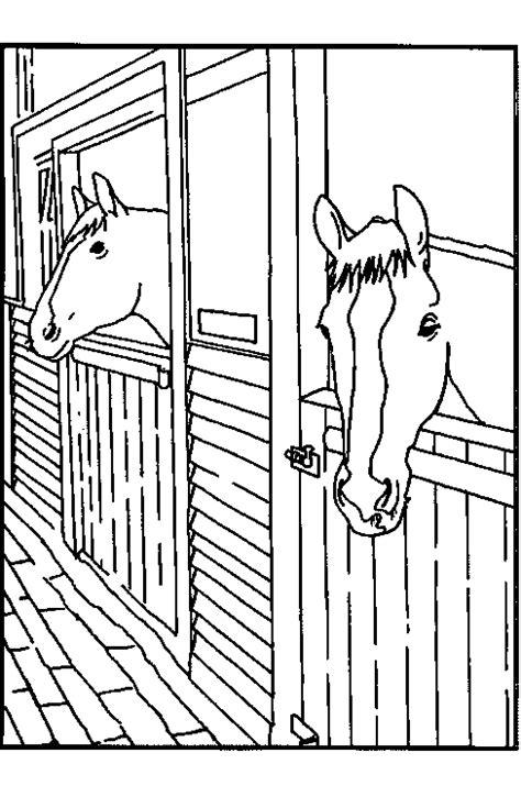 Stal Kleurplaat by Paard In Stal Kleurplaat