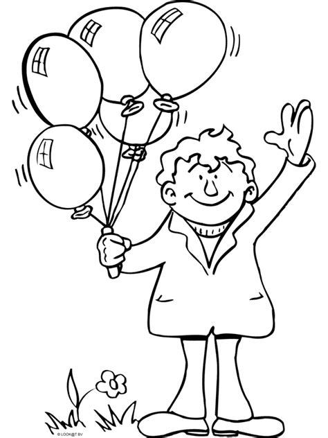 Kleurplaat Clown Met Ballonnen by Kleurplaat Met Ballonnen Kleurplaten Nl