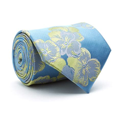 light blue floral tie handmade tie light blue floral blanc touch of modern