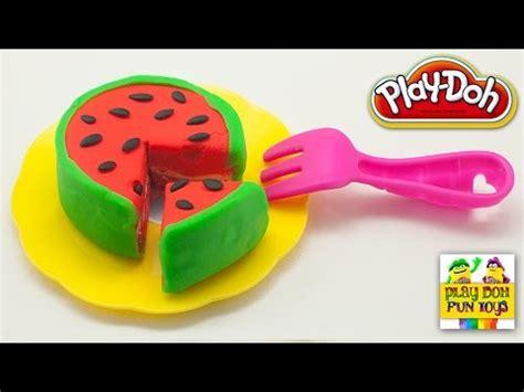 play doh watermelon cake art  craft